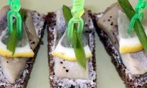 Бутерброды с селедкой – рецепт пошаговый с фото