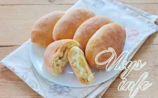 Постные дрожжевые пирожки с картофелем – рецепт пошаговый с фото