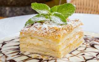 Торт Наполеон с нежным кремом – рецепт пошаговый с фото