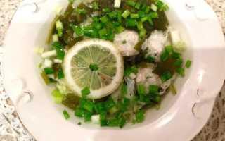 Щавелевый суп с фрикадельками – рецепт пошаговый с фото