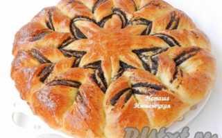 Дрожжевой пирог на кефире с маком и повидлом – рецепт пошаговый с фото