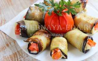 Яичные рулеты с баклажанами и помидорами – рецепт пошаговый с фото