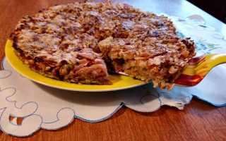 Насыпной яблочный пирог с овсяными хлопьями – рецепт пошаговый с фото