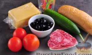 Канапе на шпажках с колбасой – рецепт пошаговый с фото