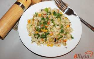Рис с кукурузой и зеленым горошком – рецепт пошаговый с фото