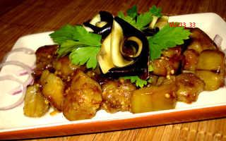 Острые баклажаны в соевом соусе на сковороде – рецепт пошаговый с фото