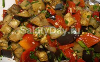 Холодный салат из баклажанов – рецепт пошаговый с фото