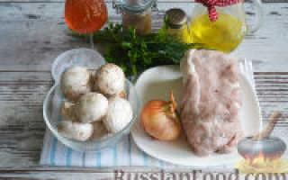Рулеты из свинины с грибной начинкой – рецепт пошаговый с фото