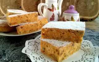 Сладкий пирог из тыквенного пюре – рецепт пошаговый с фото