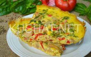 Омлет с баклажанами на сковороде – рецепт пошаговый с фото