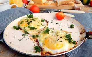 Яичница с зеленым луком и сыром – рецепт пошаговый с фото