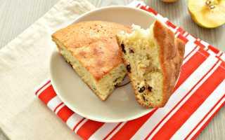 Пирог с яблоками и изюмом – рецепт пошаговый с фото