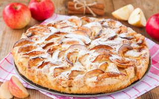 Шарлотка со сладкими яблоками – рецепт пошаговый с фото