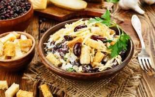 Салат из красной фасоли, огурцов и яиц с кириешками – рецепт пошаговый с фото