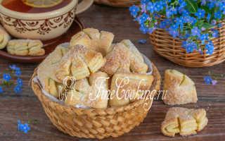Творожное печенье Утиные лапки – рецепт пошаговый с фото