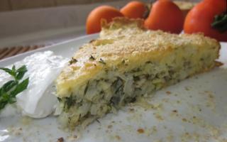Ленивый заливной пирог с капустой – рецепт пошаговый с фото