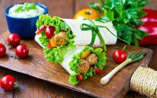 Вегетарианская шаурма – рецепт пошаговый с фото