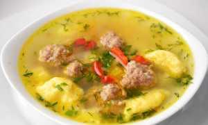 Суп с галушками и фрикадельками – рецепт пошаговый с фото