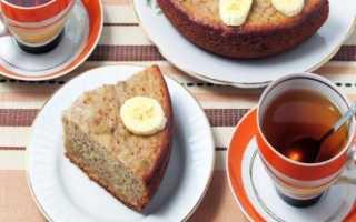 Кекс с бананом и какао в мультиварке – рецепт пошаговый с фото