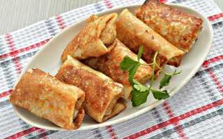 Блинчики с курицей и сыром – рецепт пошаговый с фото