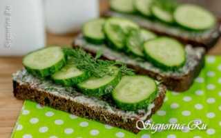 Бутерброды со свежим огурцом и кукурузой – рецепт пошаговый с фото