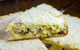 Пирог с изюмом на кефире – рецепт пошаговый с фото