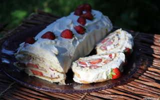 Рулет бисквитный с кремом из рикотты – рецепт пошаговый с фото