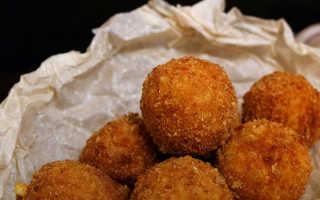 Сырные шарики с чесноком во фритюре – рецепт пошаговый с фото