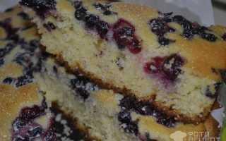 Манник на кефире с ягодами – рецепт пошаговый с фото