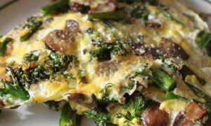 Яичница с шампиньонами и сыром – рецепт пошаговый с фото