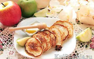 Яблочные пышные оладьи на кефире – рецепт пошаговый с фото