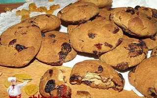Печенье с изюмом и медом – рецепт пошаговый с фото