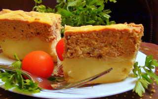 Запеканка из печени под картофельной шубой – рецепт пошаговый с фото