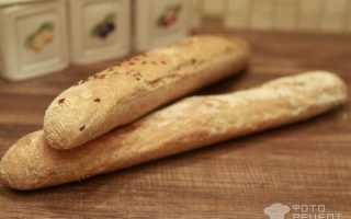 Французский багет из цельнозерновой муки – рецепт пошаговый с фото
