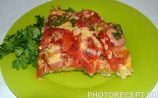 Пицца из лапши быстрого приготовления на сковороде – рецепт пошаговый с фото