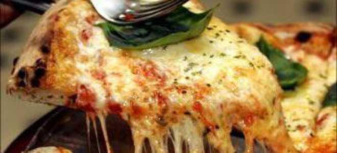 Пицца с моцареллой и базиликом – рецепт пошаговый с фото