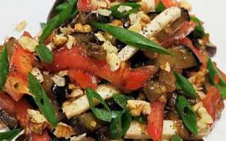 Легкий салат из баклажанов, лука и кинзы – рецепт пошаговый с фото