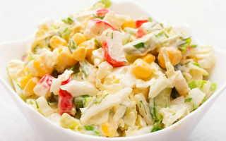 Салат из крабовых палочек с плавленным сырком и пекинской капустой – рецепт пошаговый с фото