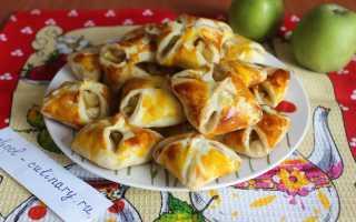 Яблоки в слоёном тесте – рецепт пошаговый с фото