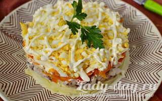 Слоеный салат с сардиной – рецепт пошаговый с фото