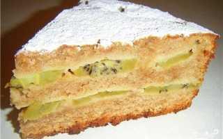 Пирог с киви на скорую руку – рецепт пошаговый с фото