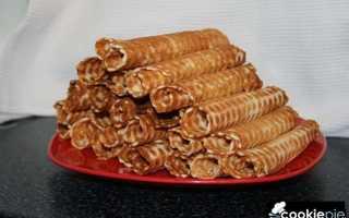 Ванильные вафельные трубочки на растительном масле – рецепт пошаговый с фото