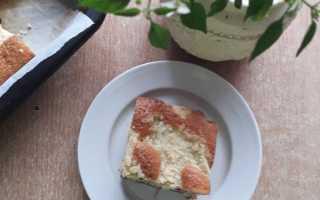 Бисквитный пирог с ежевикой – рецепт пошаговый с фото