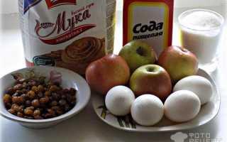 Бисквитный пирог с изюмом и яблоком – рецепт пошаговый с фото