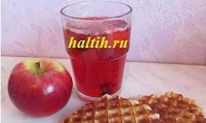 Компот из яблок и замороженных ягод – рецепт пошаговый с фото