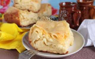 Ачма по-грузински с двумя видами сыра – рецепт пошаговый с фото