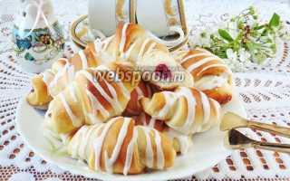 Рогалик с вишнёвым джемом – рецепт пошаговый с фото