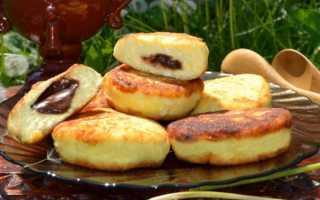Сырники из творога с шоколадом внутри – рецепт пошаговый с фото