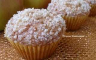 Нежный яблочный кекс с крошкой – рецепт пошаговый с фото