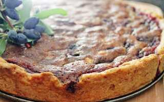 Мини-торт песочный с заливкой из сладкой жимолости – рецепт пошаговый с фото